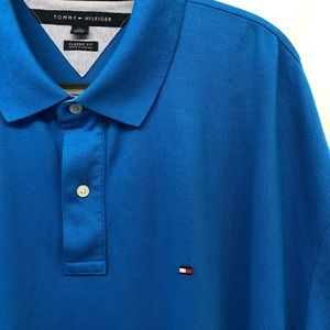 Tommy Hilfiger Blue Polo Shirt Size 3XL